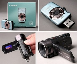 Miniature Canon camera flash drives