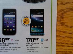 Samsung Infuse hits Walmart in May for $179