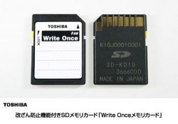 Toshiba Introduces Write-Once SD Card