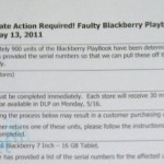 RIM recalls some BlackBerry PlayBooks