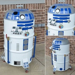 R2-D2 inspired barbecue grill