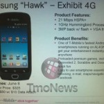 Samsung Exhibit 4G coming to T-Mobile on June 8th