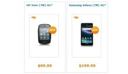 Samsung Infuse 4G and HP Veer 4G on sale at AT&T