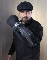 Armor sleeve packs a stun-gun and laser