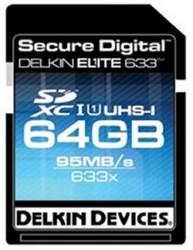 Delkin 64GB Elite633 SDXC Card Ships