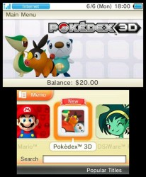 Nintendo 3DS June 6 update: free Excitebike, Pokedex 3D