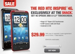 Red HTC Inspire 4G exclusively at Radio Shack