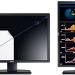 Dell UltraSharp U2412M display with 1920 x 1200-pixel resolution and IPS