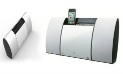 Sony Wall Mounted CMT-CX5 Audio System And iPhone Dock