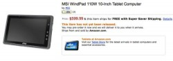 MSI WindPad 110w tablet up for pre-order