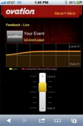 Ovation app lets you rate a show in real time