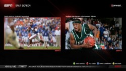 ESPN split screen on Xbox