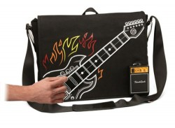 Electronic Rock Guitar Bag Plays Music