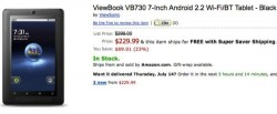 Viewsonic ships 7-inch ViewBook VB730 tablet for $230