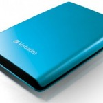 Verbatim Store 'n' Go USB 3.0 hard drives in blue and pink