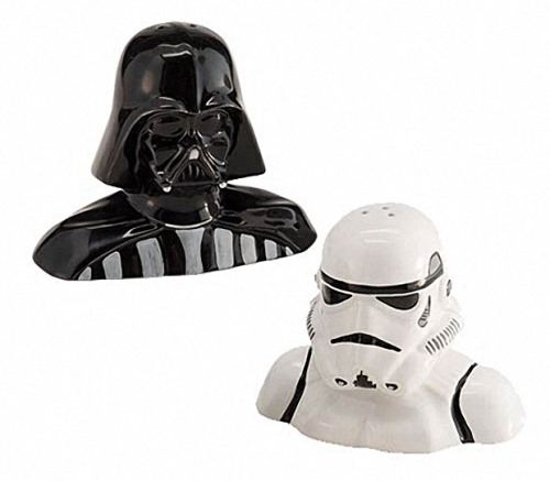 Darth Vader Stormtrooper Salt and Pepper shakers