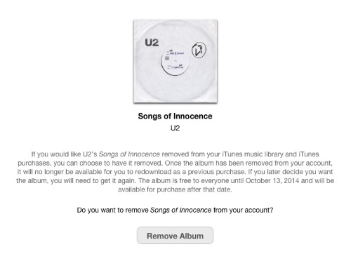 Apple U2 Removal